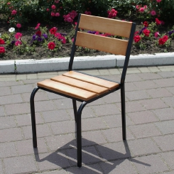 Кованый стул со спинкой LOFT_25