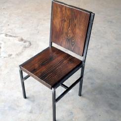 Кованый стул со спинкой LOFT_27