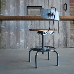 Металлический стул со спинкой для рабочего стола LOFT_28