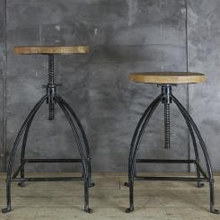 Барный стул, регулируемый табурет LOFT_2