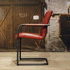 Стул кресло для гостиной с кожаной обивкой LOFT_30