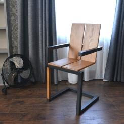 Дизайнерский кованый стул со спинкой LOFT_32