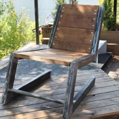 Дизайнерский кованый стул для сада и терассы LOFT_33