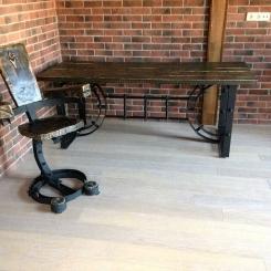 Дизайнерский кованый стул для рабочего стола LOFT_34