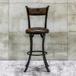 Дизайнерский барный стул с кожаной обивкой LOFT_35