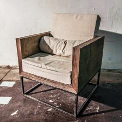 Стул кресло с подлокотниками мягкое для гостиной LOFT_41