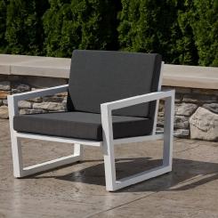 Стул кресло с подлокотниками для сада и терассы LOFT_43