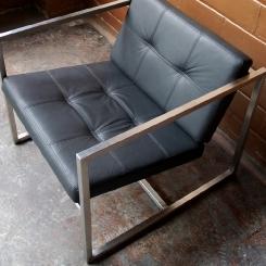 Стул кресло с кожаной обивкой для офиса LOFT_44