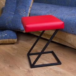 Металлический стул с кожаной обивкой LOFT_45