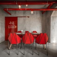 Дизайнерские металлические стулья со спинкой для обеденной зоны LOFT_46