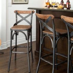 Барный стул со спинкой LOFT_5
