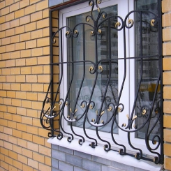 Кованые решетки на окна КР_30