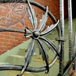 Кованые перила для уличной лестницы КП_1