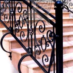 Кованые перила для уличной лестницы КП_4