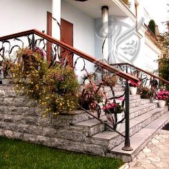 Кованые перила для уличной лестницы КП_12