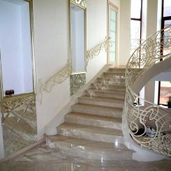 Кованые перила для лестниц из металла КП_112