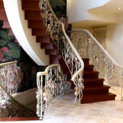 Кованые перила для лестницы в доме КП_93