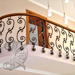 Кованый балкон КБ_10