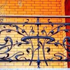 Кованый балкон КБ_18