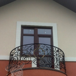 Кованый балкон КБ_21