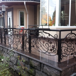 Кованый балкон КБ_23