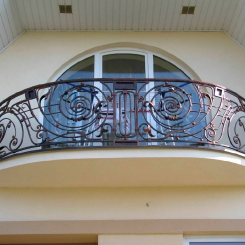 Кованый балкон КБ_34