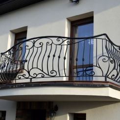 Кованый балкон КБ_38