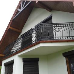 Кованый балкон КБ_42