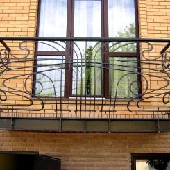 Кованый балкон КБ_43