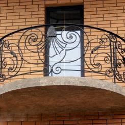 Кованый балкон КБ_47