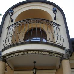 Кованый балкон КБ_48