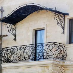 Кованый балкон КБ_53