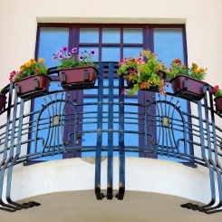 Кованый балкон КБ_59