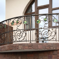 Кованый балкон КБ_86