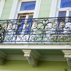 Кованый балкон КБ_95